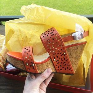 Adrienne Vittadini Countiss Sandal Wedge Heel